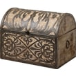 Uttermost Abelardo 13in. Stained Rustic Wood Box With Hinged Lid