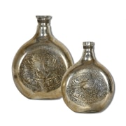 Uttermost Euryl Mercury Glass 2-Piece Vase Set