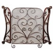 Uttermost Daymeion Forged Metal Fireplace Screen, Cocoa Brown/Tan