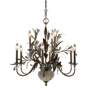 "Uttermost Cristal de Lisbon 34"" x 32"" 11 Light Chandelier, Golden Bronze"