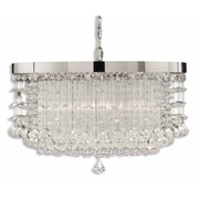 "Uttermost Fascination 14"" x 21"" 3 Light Chandelier, Chrome"