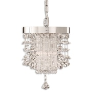Uttermost Fascination 2 Light Crystal Mini Pendant, Chrome