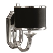 Uttermost Tuxedo Wall Sconce With Black Shade, Silver