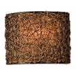 Uttermost Knotted Rattan 1 Light Wall Sconce, Espresso