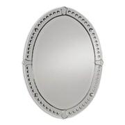 Uttermost 34 x 25 x 1 Graziano Frameless Oval Mirror