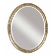 Uttermost 31 x 25 x 2 Newport Mirror, Antique Silver Leaf/Gray