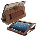 Snugg Leather Flip Stand Cover Case With Elastic Strap For iPad Mini/Mini 2 Retina, Camouflage