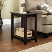 Sauder Edge Water Side Table, Estate Black