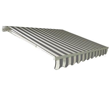 Awntech® California® Medium Duty Manual Retractable Awning, 8' x 7', Gray/White