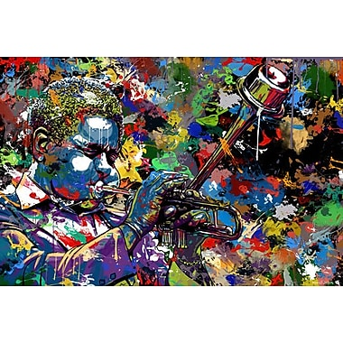 Maxwell Dickson ''Jazz Musician'' Graphic Art on Canvas; 36'' H x 48'' W