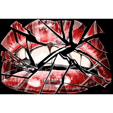 Maxwell Dickson ''Shattered Lips'' Graphic Art on Canvas; 16'' H x 20'' W