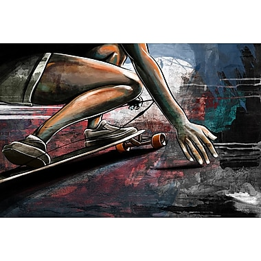 Maxwell Dickson ''Road Surfing'' Graphic Art on Canvas; 18'' H x 24'' W