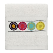 Creative Bath Dot Swirl Embroidered Wash Cloth; Bright