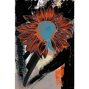 Maxwell Dickson ''Sunflower'' Painting Print on Canvas; 30'' H x 20'' W