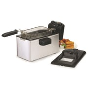 Elite by Maxi-Matic Gourmet 3.31 Liter Stainless Steel Immersion Deep Fryer w/ Timer