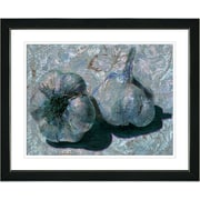 Studio Works Modern ''Garlic - Blue'' by Zhee Singer Framed Graphic Art in Blue; Satin Black
