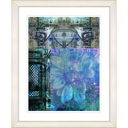 Studio Works Modern ''Bustle - Blue'' by Zhee Singer Framed Graphic Art in Blue; Creamy White