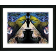 Studio Works Modern ''Enigma - Gold'' by Mia Singer Framed Graphic Art; Satin Black