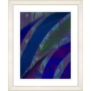 Studio Works Modern ''Cinnabar - Blue'' by Zhee Singer Framed Graphic Art in Blue; Creamy White