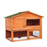 "Pawhut D2-0038 48"" Rabbit Hutch House"