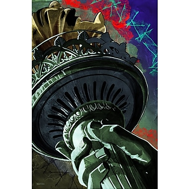 Maxwell Dickson ''Statue of Liberty'' Painting Print on Canvas; 18'' H x 24'' W