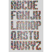 Maxwell Dickson ''Alphabet Dots'' Textual Art on Canvas; 24'' H x 36'' W