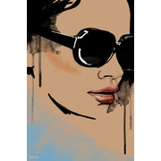 Maxwell Dickson 'Michelle' Portrait Fashion Graphic Art on Wrapped Canvas; 20'' H x 16'' W x 1.5'' D