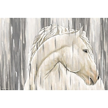 Maxwell Dickson ''White Horse'' Painting Print on Canvas; 36'' H x 48'' W