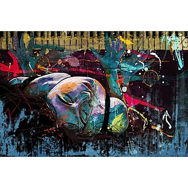 Maxwell Dickson ''Keys of Life'' Painting Print on Canvas; 20'' H x 30'' W