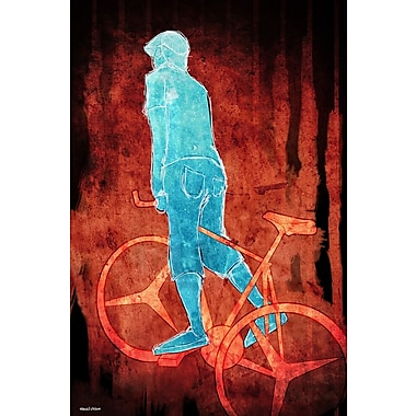 Maxwell Dickson ''Bikeman'' Graphic Art on Canvas; 18'' H x 24'' W