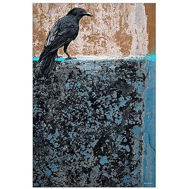 Maxwell Dickson ''Crow'' Graphic Art on Canvas; 20'' H x 16'' W