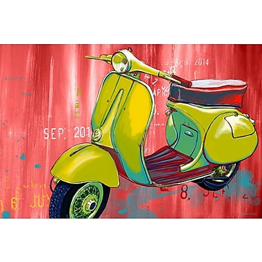 Maxwell Dickson ''Vintage Scooter'' Graphic Art on Canvas; 40'' H x 60'' W