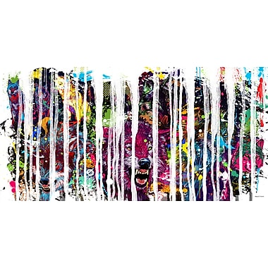 Maxwell Dickson ''Wolf Pack'' 3 Piece Graphic Art on Canvas; 36'' H x 48'' W