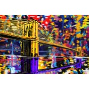 Maxwell Dickson ''Brooklyn Bridge'' Painting Prints on Canvas; 18'' H x 24'' W