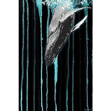 Maxwell Dickson ''Whale'' Graphic Art on Canvas; 24'' H x 18'' W