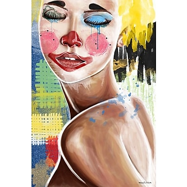 Maxwell Dickson ''Tears of a Clown'' Painting Print on Canvas; 48'' H x 36'' W