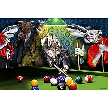 Maxwell Dickson ''Game Time'' Graphic Art on Wrapped Canvas; 36'' H x 48'' W