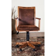 Sunny Designs Mid-Back Office Chair with Arm; Rustic Oak
