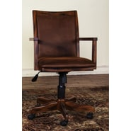 Sunny Designs Mid-Back Office Chair with Arm; Dark Chocolate