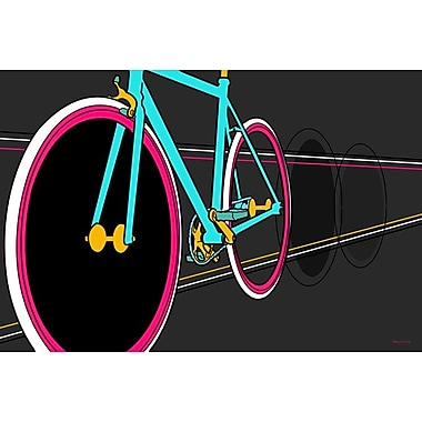 Maxwell Dickson ''Fixie'' Graphic Art on Wrapped Canvas; 24'' H x 36'' W