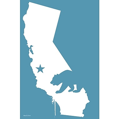Maxwell Dickson ''California'' Graphic Art on Canvas; 24'' H x 18'' W