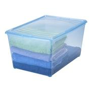 IRIS 64 Quart Clear Storage Box (Set of 8); Translucent Blue
