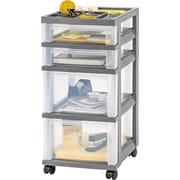 IRIS 26'' 4-Drawer Cart; Gray