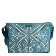 Nicole Lee Jolene Geometric Studwork Messenger Bag; Green