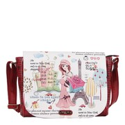 Nicole Lee Shopping Girl Print Messenger Bag