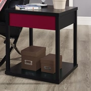 Altra Parsons End Table; Black / Red