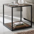Altra End Table; Cherry / Black