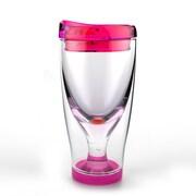 AdNArt Iced Vino 2 Go Tumbler; Pink