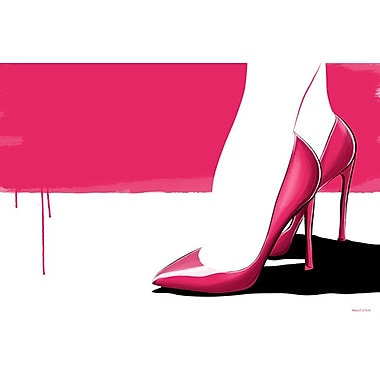 Maxwell Dickson ''Pink Stilettos'' Graphic Art on Canvas; 24'' H x 36'' W
