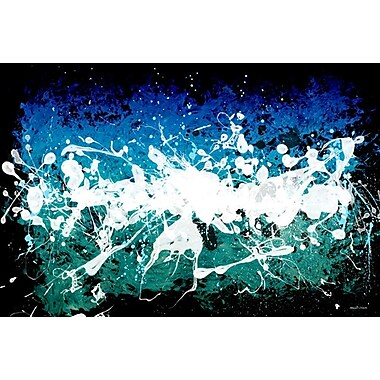 Maxwell Dickson ''Deep Sea'' Graphic Art on Canvas; 24'' H x 36'' W